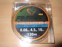 SG Finezze HD4 Braid 120m 0.08mm 10lbs 4.5kg Grey