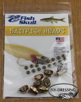 BAITFISH HEAD - TAN BAITFISH (GOLD) - SMALL/MEDIUM
