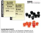 GLASS BEAD-FACET.RED 8mm