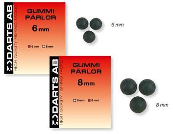 GUMMIPÄRLOR- 6mm