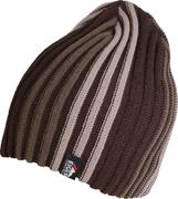 Eiger Striped Knitted Hat Brown