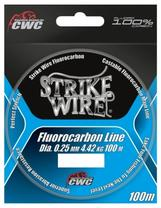 Strike Wire Fluorocarbon 0,25mm/4,42kg - 100m, invisible