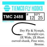 Tiemco 2488 Dry & Nymph #14