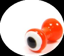 Double Pupil Lead Eyes - fl.orange/white/black