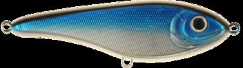 Buster Jerk, shallow, 15cm, Blue/Chrome