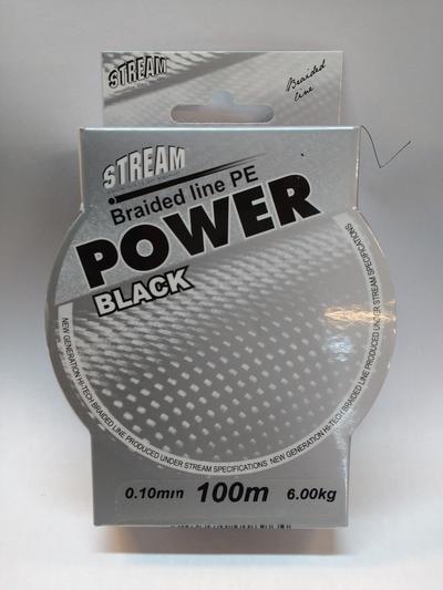 Stream Braid Power Black 100m 0,35mm