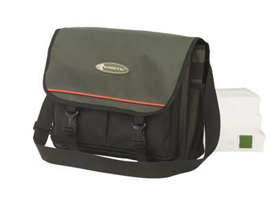 Fishing Bag w/3 boxes Moss Green 36x25x12cm