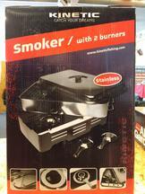 Smoker Metal with 2 burners 42x26x12cm