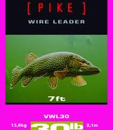 PIKE wire leader 30lb/7ft
