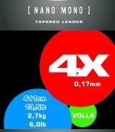 NANO MONO leader 4X