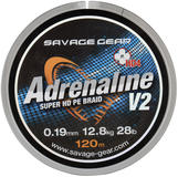 Savage Gear HD4 Adrenaline V2 120m 0.10mm 13lbs 6kg Grey