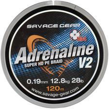Savage Gear HD4 Adrenaline V2 120m 0.13mm 17lbs 7.8kg Grey