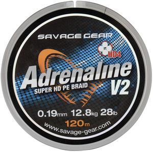 Savage Gear HD4 Adrenaline V2 120m 0.16mm 22lbs 10kg Grey