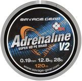 Savage Gear HD4 Adrenaline V2 120m 0.19mm 28lbs 12.8kg Grey