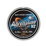 Savage Gear HD4 Adrenaline V2 120m 0.22mm 33lbs 15kg Grey