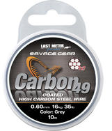 Savage Gear Carbon49 0.60mm 16kg 35lb Coated Grey 10m