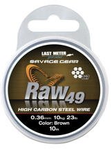 Savage Gear Raw49 0.36mm 11kg 24lb Uncoated Brown 10m