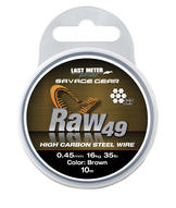 Savage Gear Raw49 0.45mm 16kg 35lb Uncoated Brown 10m