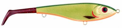 Bandit Paddle Tail, slow sink, 22cm, Dirty Roach - Red