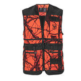 Hunting vest orange camou L