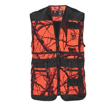 Hunting vest orange camou M