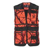 Hunting vest orange camou XL
