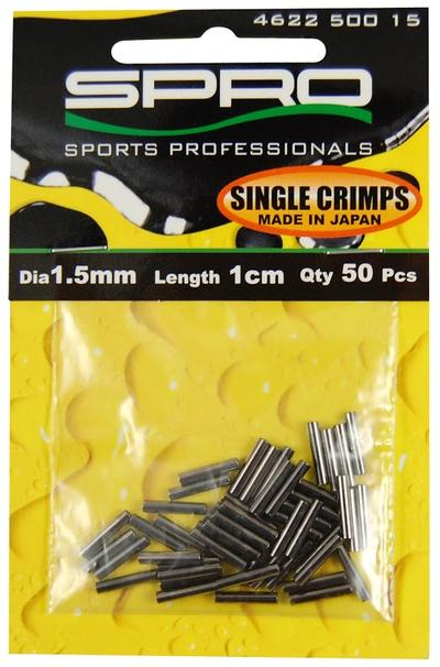 SINGLE CRIMPS 1.5MM             10BX50ST